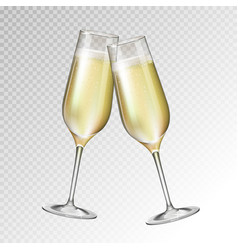 Champagne glass isolated on transparent background vector
