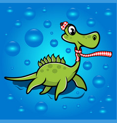 childrens dinosaur in a scarf vector image