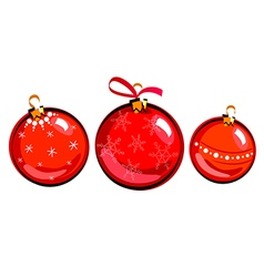 Christmas balls drawing vector image