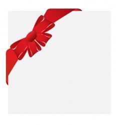 Christmas corner label vector image