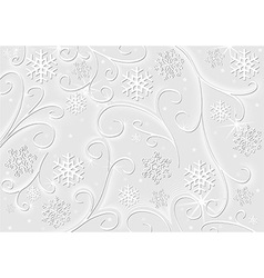 Christmas White Decoration vector image