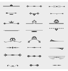 Collection of twelve vintage frames for design vector image