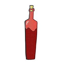 Comic cartoon posh bottle vector