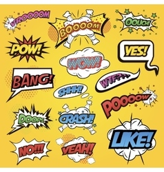Comics speech and exclamations vector image
