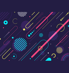 Creative abstract dynamic geometric elements vector