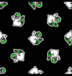Cute punk rock raccoon on black background vector