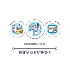 Debt restructuring concept icon vector