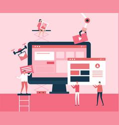 desktop application - flat design style vector image