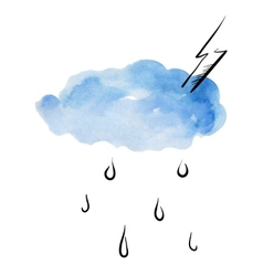 Doodle clouds and rain vector image