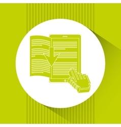Electronic book design vector