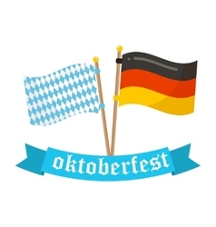 Germany and bavaria flags icon vector