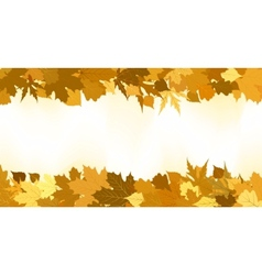 Golden autumn border vector