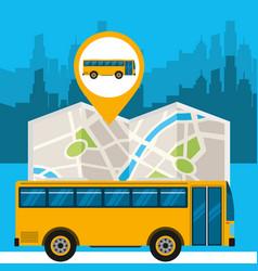 gps navigation transportation vector image