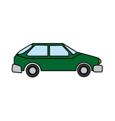Green car vehicle transport technology image vector