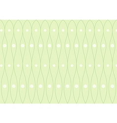 Green wave background vector