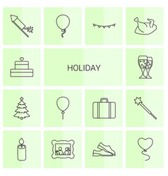 holiday icons vector image