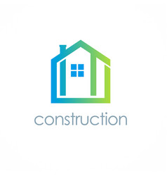 home construction logo vector image