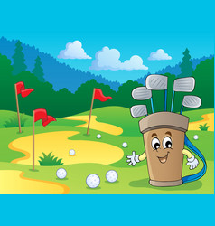 Image with golf theme 2 vector