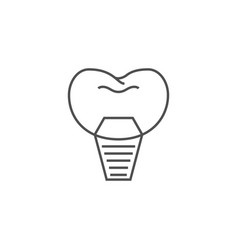 implants dentistry line icon vector image