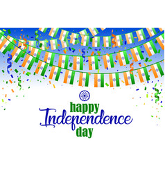 indian independence day 2 vector image