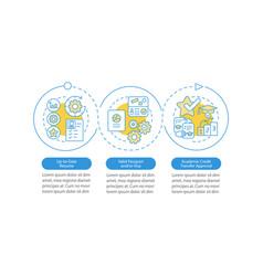 Internship abroad demands infographic template vector