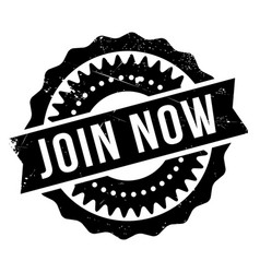 join now rubber stamp vector image
