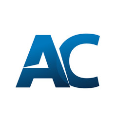 Letter ac vector