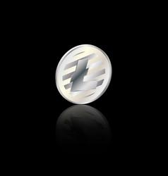 litecoin silver coin vector image