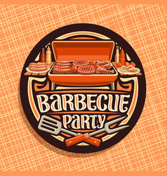 Logo for barbecue party vector