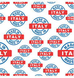 Made in italy seamless pattern background icon vector