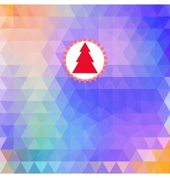 Merry Christmas card abstract geometric background vector
