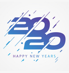 modern and colorful design 2020 happy new year vector image
