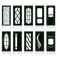 Modern front doors vector