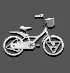 Monochrome of a children bike wheeled eco vector