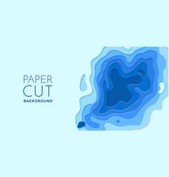 multi color layers effect papercut 3d paper cut vector image