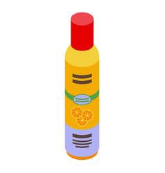orange air freshener icon isometric style vector image