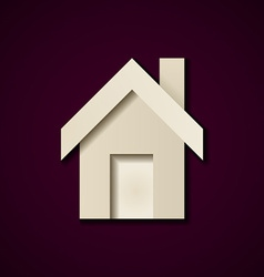 paper house icon design template vector image