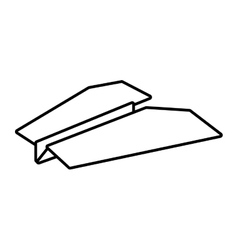 Paper plane origami funny outline vector