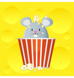 popcorn cheese vector image
