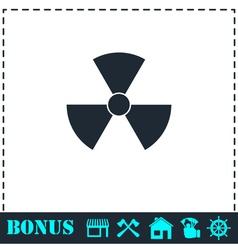 Radiation icon flat vector