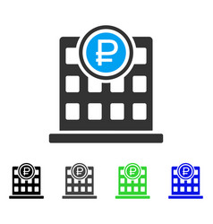 Rouble bank office flat icon vector