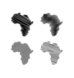 Scribble africa map vector