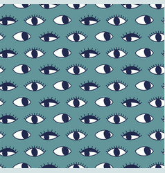 Seamless pattern with hand evil eye vector