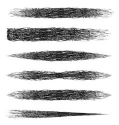 set brush mascara makeup brush strokes vector image