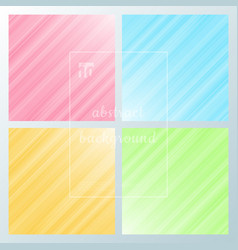 set of abstract motion striped diagonal lines vector image