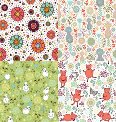set patterns with nature vector image