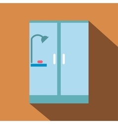 Shower cabin flat icon with shadow vector