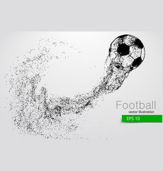 Silhouette of a soccer ball from particles vector