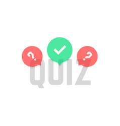 Simple quiz logo with transparent bubbles vector