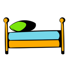single bed icon cartoon vector image